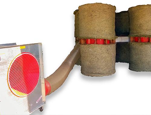 Sušilnik za sušenje okroglih bal